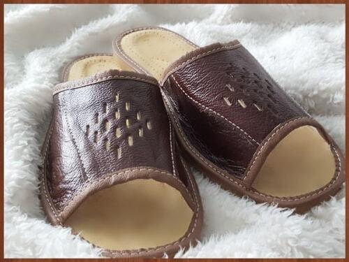 infradito 10 9 in da 11 pelle 12 7 Uk naturale scarpe uomo marrone Pantofole 8 taglia B7XqWn7P