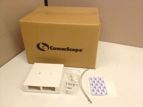 CASE of 10 CommScope 8-port Surface Mount Box White M208SMB-262 Fiber or Copper