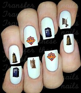 Autocollant-Stickers-ongles-Dr-Who-nail-art-manucure-deco-water-decal