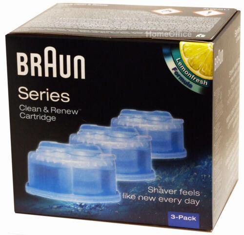 Confezione da 3 CCR3 Braun Clean and Renew da Uomo Elettrico Rasoio IGIENICI RICARICA CARTUCCIA