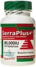 Serraplus+ MSM Serrapeptase -Pack of 60 Capsules Pack Of 1 NEW