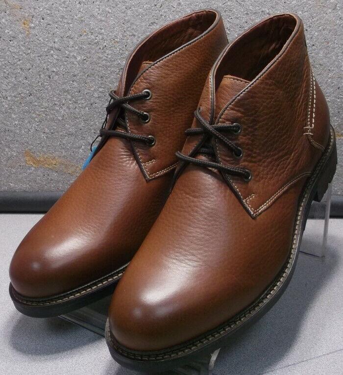 252874 ESBT50 Men's shoes Size 10 M Dark Tan Leather Boots Johnston & Murphy