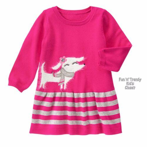 NWT Gymboree SNOWFLAKE FUN Girls Sz 12 18 24 Months Pink Cozy Pup Sweater Dress