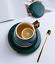 Creative-Drawing-gold-Porcelain-Tea-Cup-and-Saucer-Coffee-Cup-Set-With-Spoon-Lid thumbnail 7