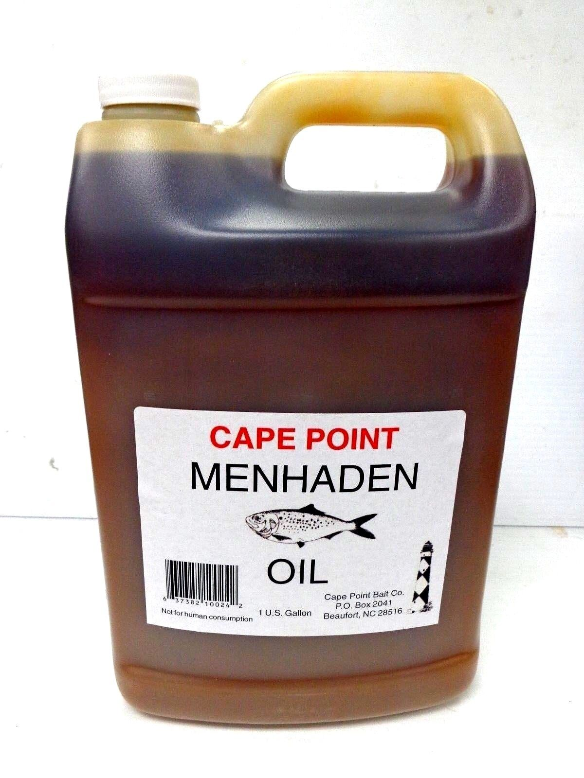 Cape Point Menhaden Oil Bunker Bait Oil for Chumming & Chunking Fishing 1 Gallon