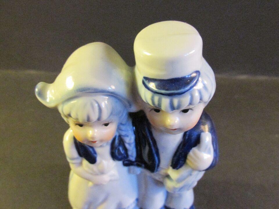 Fajance, Delfts Figur, Dreng og pige.