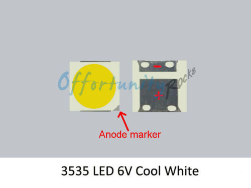 SMD LED Diode to Repair LG 49LB5500 LCD TV  Backlight Strip