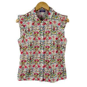 Jigsaw-Liberty-Fabric-Womens-Blouse-Size-10-Floral-Multicoloured-Sleeveless
