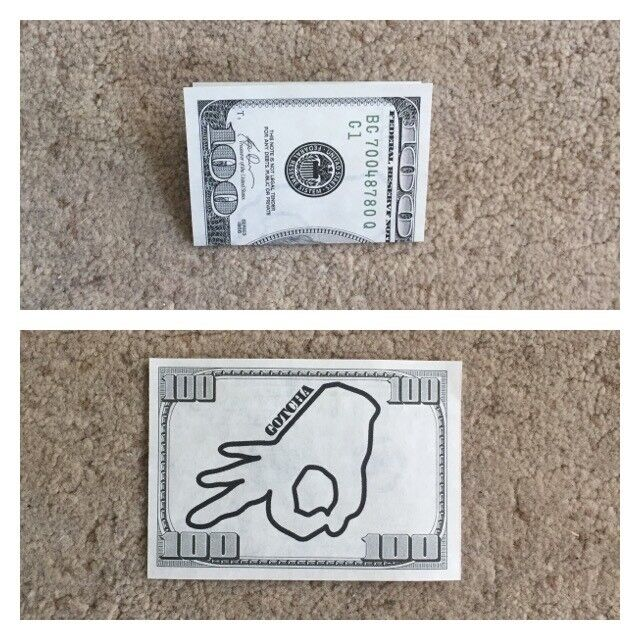 Trick Realistic 100 Dollar Bill