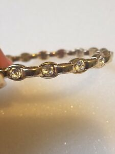 Women-039-s-Quality-Fashion-Bangle-Bracelet-Gold-Color
