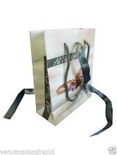 "100 x Cheap Fashion/Jewellery Misprint Paper Carrier Bags 7.25"" x 6"" x 2.75"""