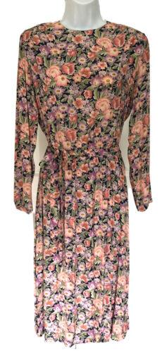 Vtg 80's Jane Schaffhausen Belle France Floral Cot