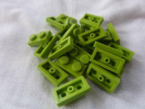 25x Lego 3023 Plaque 1x2 Lime Citron Vert 4164037