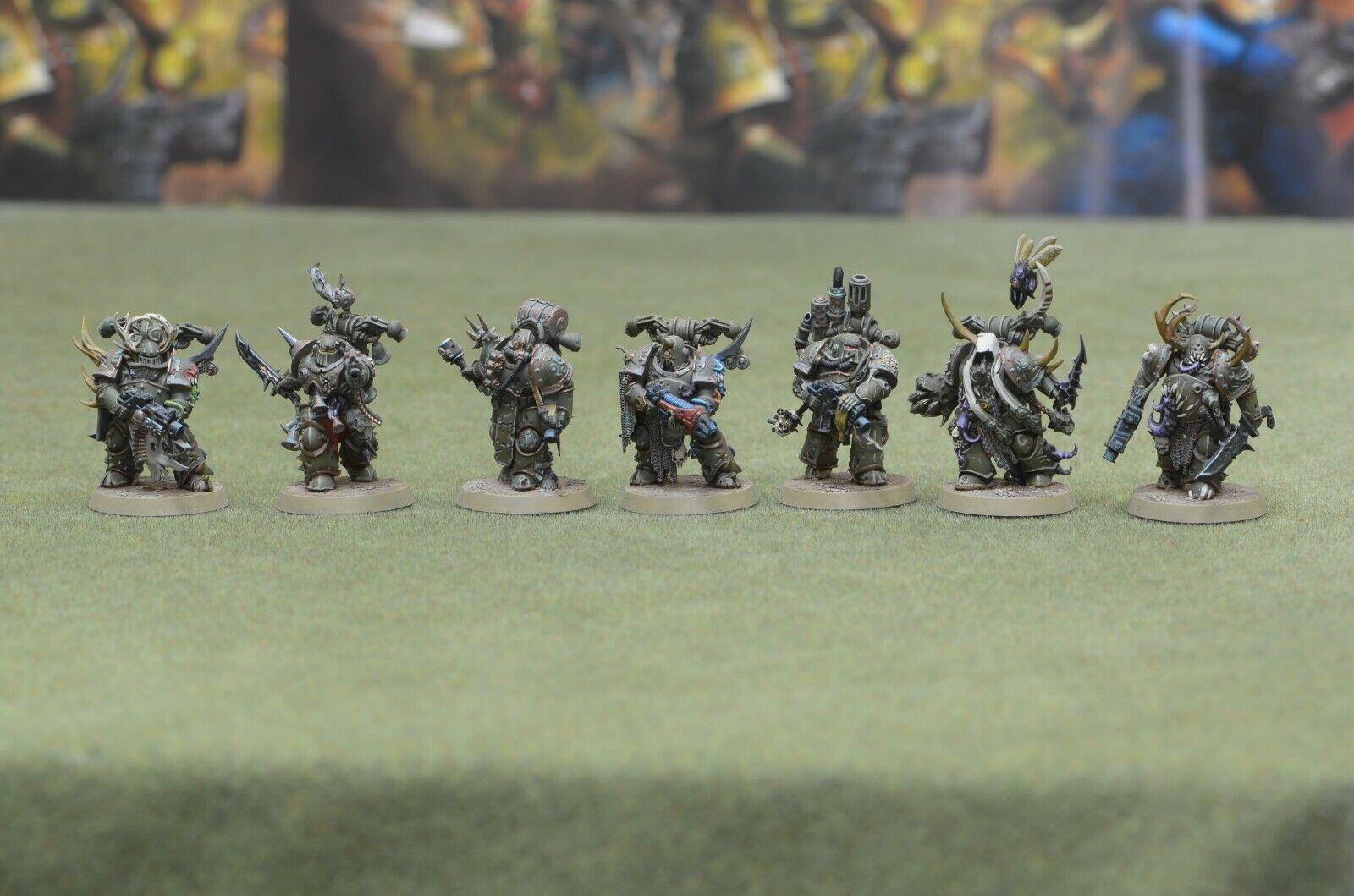 Warhammer 40K caos spacemarines muerte Guardia Marines de Plaga