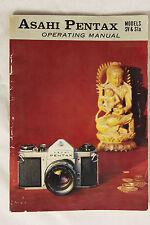 Asahi Pentax Operating Manual Instruction Booklet Models SV & S1a 1967 Original