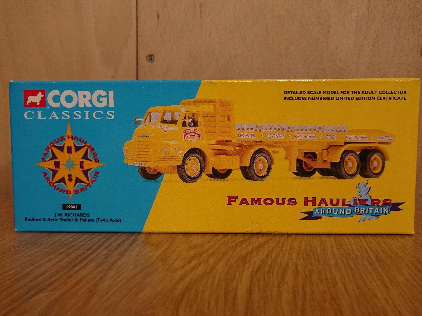Corgi 19802 Bedford S Artic & Trailer J.W. Richards Ltd Ed. No. 0005 of 4700