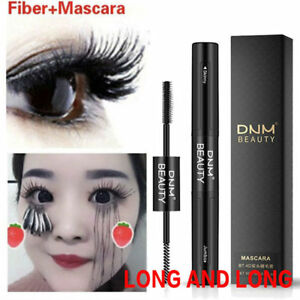 Pro-Double-extremite-4D-Fibre-Impermeable-Faux-Naturel-Noir-Mascara-Maquillage