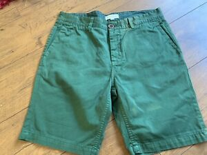 Mens-Green-River-Island-Slim-Cotton-Shorts-W34