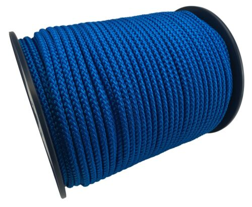 12 mm Bleu Tressé Polypropylène Corde Poly ligne voile nautique