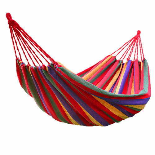 Portable Two Person Hammock Lightweight Hang Bed Outdoor Garden Travel Camping