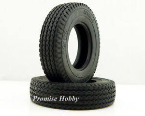 2pcs RC Car Toy 1//14 Rubber Trailer Car Tyres Tire  for Tamiya Tractor Truck