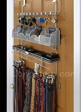 Longstem Men's Over the Door Organizer Valet #9100 Tie Belt Key Rack Rated Best