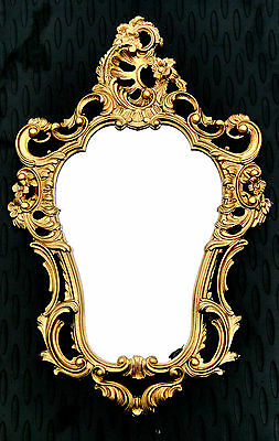 Aspiring Oval Espejo De Pared Oro 50x76 Antiguo Barroco Baño Pasillo Customers First Espejos