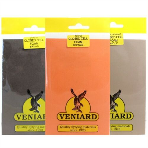 Veniard Closed Cell Foam Sheet Range of Colours Fly Tying Game Fishing