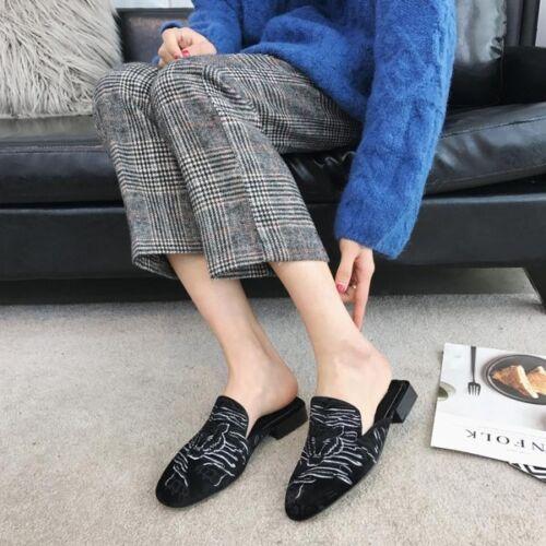 Frühling Leder Mode Niedrig nachahmung Zeichnungen Hausschuhe Schwarz Sandalen 7xA4paWHn7