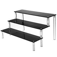 Ihomecooker 3 Tier Black Acrylic Display Riser Cupcake Stand Display Shelf For