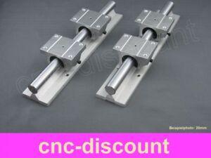 CNC Set 20x 600mm 2x Linearführung 4x Linearwagen Linear Guide Rail 3D Fräse ros