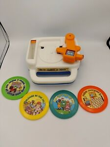 1984 Vtg. Children's Tomy Bring-Along-A-Song Record Player 4 Songs! Works! F/S!