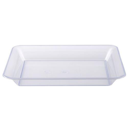 """25 X Plástico Transparente Alimentos Bandejas//Bandejas 10/"""" X 8/"""" Fuerte /& Reutilizable UK"""