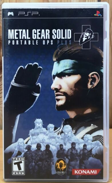 Metal Gear Solid Portable Ops Plus (Sony PSP, 2006, Konami) *Complete T