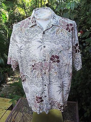 HAWAIIAN Aloha SHIRT L pit to pit 24 KONA KAI Cotton Blend sexy hot exotic RL