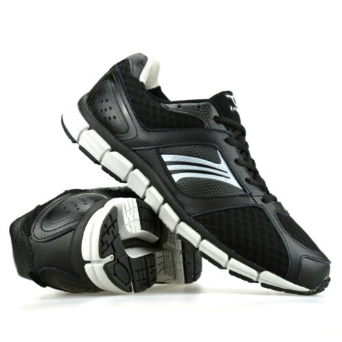 Mens Leather Running Walking Gym Boys Shock Absorbing Sports Trainers Shoes Size