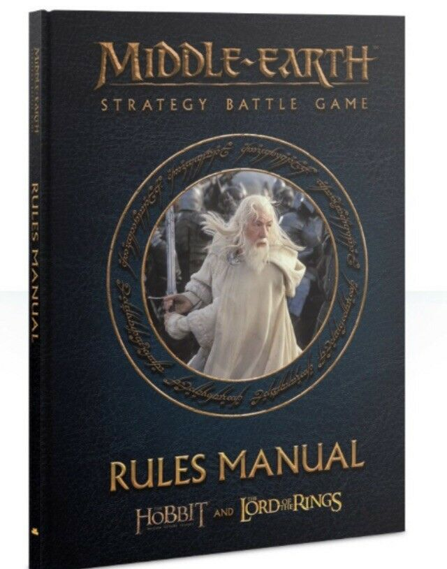 Middle Earth Strategy Battle Game Hardcover Rules Manual Hobbit Lord Rings