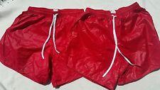2 Shiny Nylon Wetlook Glossy Plastic Look  Thin Slippery  Shorts Size XL Soffe