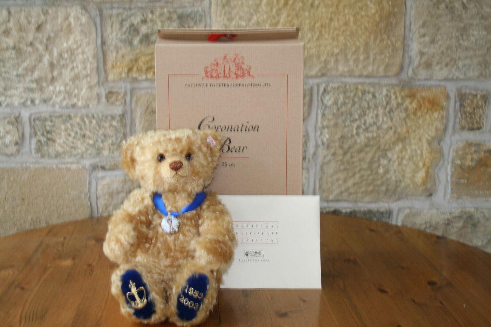Steiff Limited Edition 50th ANNIVERSARIO INCoroNAZIONE Bear