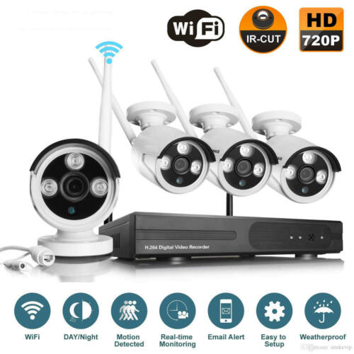 Wireless Home Security System Kit WIFI 4CH 960P CCTV NVR Outdoor IP Camera 1080P
