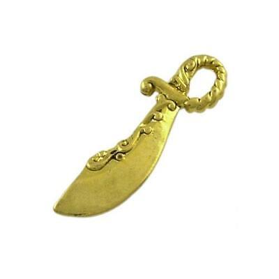 Sword Charm//Pendant Tibetan Steampunk Antique Bronze 25mm  8 Charms Accessory