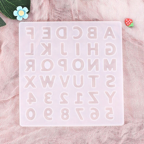 Alphabet Resin Silicone Molds Letter Number for Epoxy Molds DIY Making Keychain