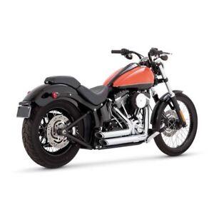 Vance-amp-Hines-2-1-4-034-Shortshots-Decales-Chrome-F-Harley-Davidson-Softail-12-17