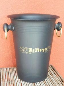 Seau à Bouteille Champagne Cremant Wolfberger Vin Blanc Alsace Ice Bucket Eimer Assurer IndéFiniment Une Apparence Nouvelle