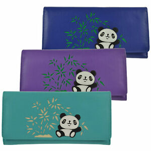 Ladies-Large-Tri-Fold-Leaher-Purse-Wallet-by-Mala-Chi-Chi-Collection-Panda