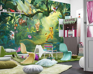Image Is Loading Giant Wallpaper 368x254cm Lion King For Kids Boys