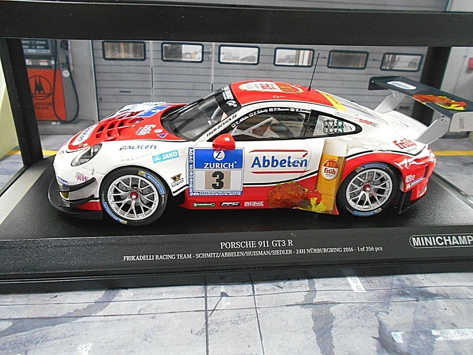 PORSCHE 911 991 R GT3 24h Nbr 2016 Frikadelli Früh Schmitz Minichamps 1 18