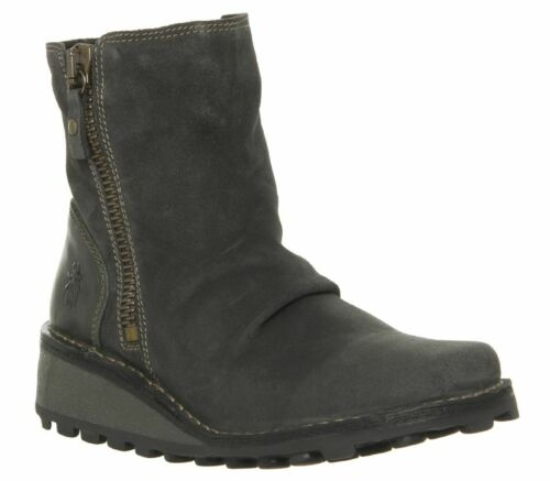 Womens Fly London Mon Zip Boots Diesel Suede Boots