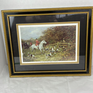 Vintage Classic Over the Stile by Heywood Hardy Framed Equestrian Fox Hunt