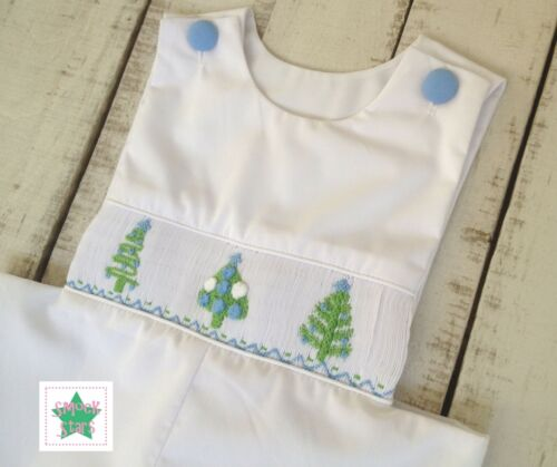 FREE SHIPPING! Smocked Christmas Longall